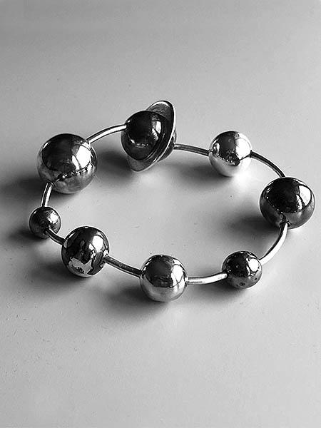 Armband Solsystemet i silver av Anna Tillas
