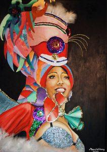 Carnival, olja av Mona Wikborg
