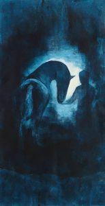 Häst i akryl av Anna Eriksson