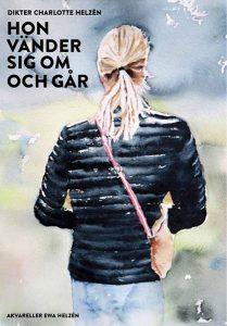 Hon vänder sig om och går, akvarell av Ewa Helzén