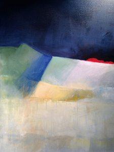 Något har landat, akryl av Lilian Olsson