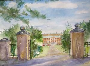 Norra Grinden, akvarell av Kerstin Larsson