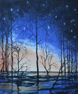 Swamp, olja av Maud Åman