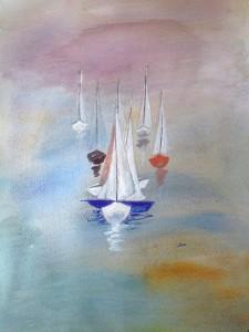Båtar 1. av Siv Norman