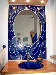 Blå badrum av Marie Norée