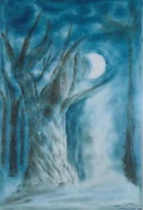 Ek, akvarell av Eleonore Vognsgaard