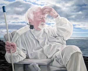 Porträtt Axel Lind, olja av Marie Sundin