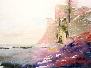 Skeppsvraket, akvarell av Birgitta Lindgren