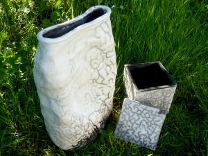 Vaser i stengods av Ylva Lingefelt