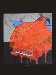 Dizzy bird, målning av Lennart Magnusson
