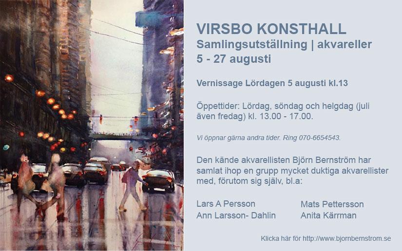 Utställning akvareller av Björn Bernström m.fl