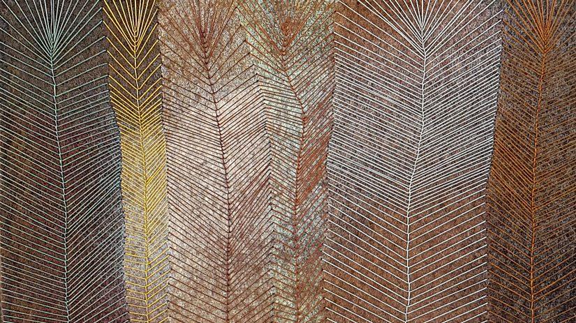 Bladverk i textil av AneSvanheden