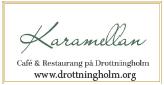 Modern och tillgängligt café  & restaurang. Byggnaden inrymmer Slottsboden, där man kan köpa souvenirer med kunglig anknytning.