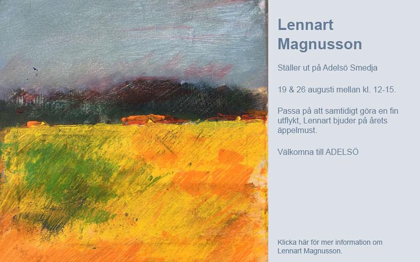 Utställning av Lennart Magnusson i smedjan på Adelso