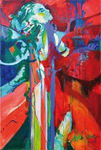 Decision i akryl av Malin Ramquist