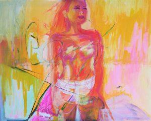 Free i akryl av Malin Ramquist