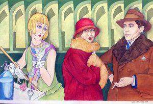 Gerda Vegener, akvarell av Lena Hellström-Sparring