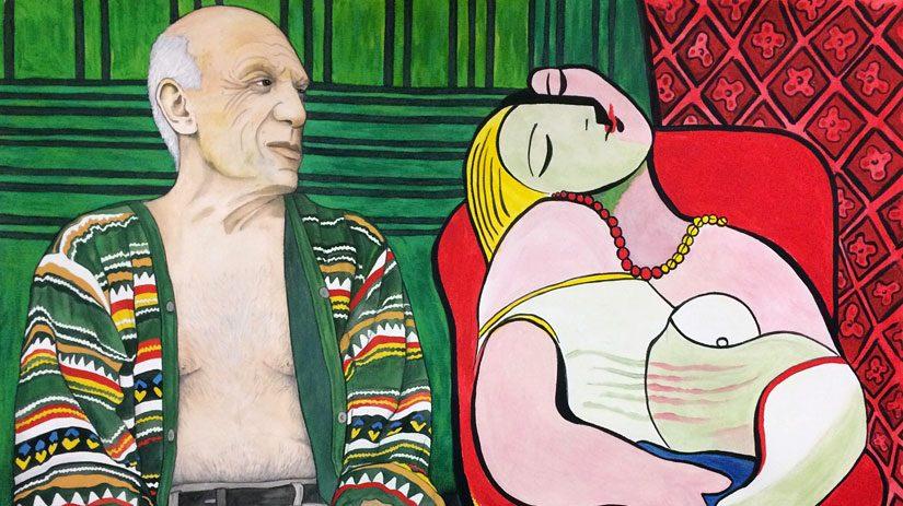 Drömmen om Picasso, akvarell av Lena Hellström-Sparring