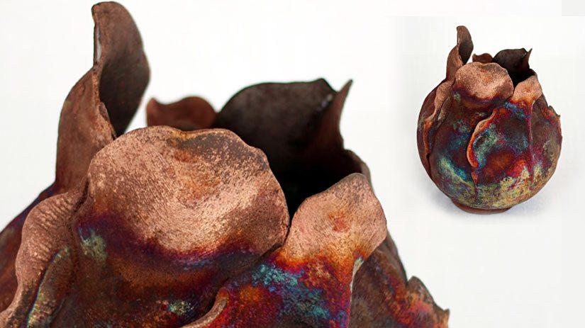 Vas i keramik av Jill Stark