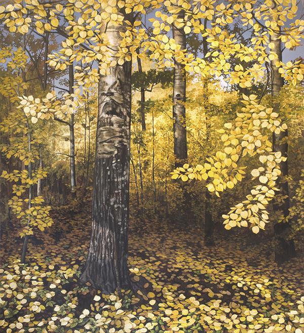 Autumn Aspens i akryl
